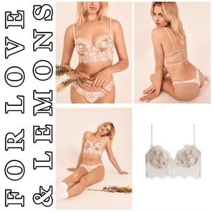 🍋For Love & Lemons💕🍋 Faye Lace Underwire Bra